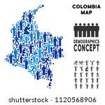 vector population colombia map. ... | Shutterstock .eps vector #1120568906
