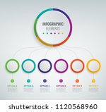 abstract 3d infographic... | Shutterstock .eps vector #1120568960