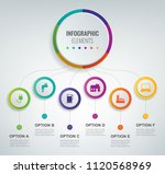 abstract 3d infographic... | Shutterstock .eps vector #1120568969
