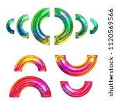 multicolor fun painted metallic ... | Shutterstock . vector #1120569566