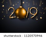 2019 happy new year background... | Shutterstock .eps vector #1120570946
