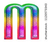 multicolor fun painted metallic ... | Shutterstock . vector #1120573343