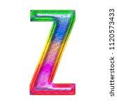 multicolor fun painted metallic ... | Shutterstock . vector #1120573433