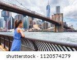 new york city nyc summer travel ... | Shutterstock . vector #1120574279