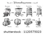 process of wine production.... | Shutterstock .eps vector #1120575023