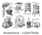process of wine production.... | Shutterstock .eps vector #1120575026