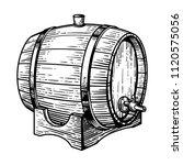wooden barre on white... | Shutterstock .eps vector #1120575056