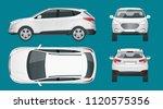 car vector template on white...   Shutterstock .eps vector #1120575356