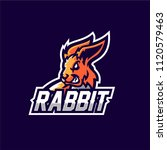 Stock vector rabbit esport gaming mascot logo template 1120579463