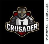 knight crusader esport gaming... | Shutterstock .eps vector #1120592186