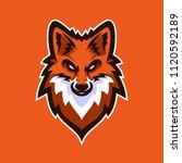 fox esport gaming mascot logo... | Shutterstock .eps vector #1120592189