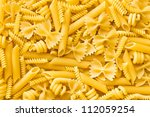 A Lot Of The Various Raw Pasta...