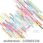 abstract colorful geometric... | Shutterstock .eps vector #1120601156