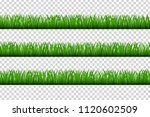 vector realistic isolated grass ... | Shutterstock .eps vector #1120602509
