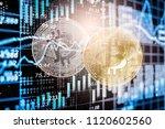 modern way of exchange. bitcoin ... | Shutterstock . vector #1120602560