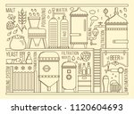 beer production stage line set. ... | Shutterstock .eps vector #1120604693