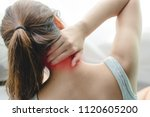 back view close up at woman...   Shutterstock . vector #1120605200