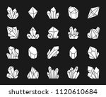 crystal silhouette icons set.... | Shutterstock .eps vector #1120610684