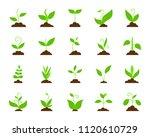 grass flat icons set. web sign... | Shutterstock .eps vector #1120610729