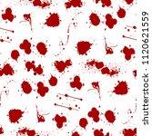 blood splat splash spot ink... | Shutterstock .eps vector #1120621559