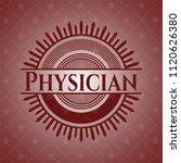 physician red emblem | Shutterstock .eps vector #1120626380