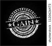 gain chalkboard emblem   Shutterstock .eps vector #1120626473