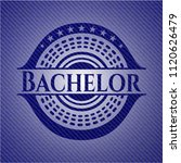 bachelor emblem with jean... | Shutterstock .eps vector #1120626479