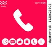 telephone handset symbol ...   Shutterstock .eps vector #1120629806