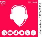 operator in headset. call... | Shutterstock .eps vector #1120632116