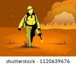 Wildland Firefighter With Drip...
