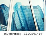 commercial building detail ... | Shutterstock . vector #1120641419
