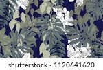 botanical seamless pattern ... | Shutterstock .eps vector #1120641620