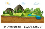 scene of landscape with... | Shutterstock .eps vector #1120652579
