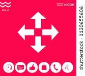 move icon symbol | Shutterstock .eps vector #1120655606