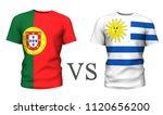 portugal  vs uruguay . soccer...   Shutterstock . vector #1120656200