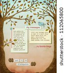 fall background page  with text ... | Shutterstock .eps vector #112065800