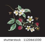 embroidery floral traditional... | Shutterstock .eps vector #1120661030