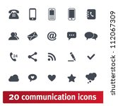 web  communication icons ... | Shutterstock .eps vector #112067309