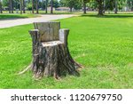 Natural Tree Stump Made Chair   ...