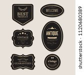 vintage element banner label... | Shutterstock .eps vector #1120680389