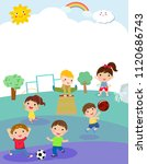 kids and sport playground | Shutterstock .eps vector #1120686743