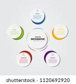 business infographic design... | Shutterstock .eps vector #1120692920