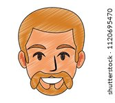 young man face cartoon | Shutterstock .eps vector #1120695470