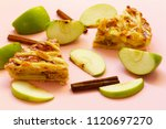 traditional apple pie made of... | Shutterstock . vector #1120697270