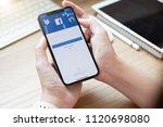 chiang mai  thailand jun 22... | Shutterstock . vector #1120698080
