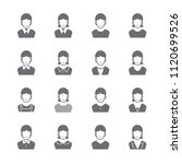 people icon set | Shutterstock .eps vector #1120699526