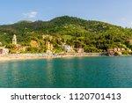 levanto   town in liguria ... | Shutterstock . vector #1120701413