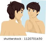 illustration of a teenage guy... | Shutterstock .eps vector #1120701650