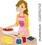 illustration of a teenage girl... | Shutterstock .eps vector #1120701713