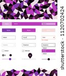 dark purple  pink vector ui ux...